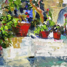 Daniel Clarke: 'Artists Back Yard', 2014 Acrylic Painting, Landscape. Artist Description: