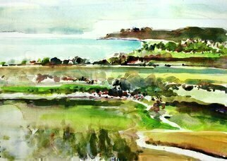 Artist: Daniel Clarke - Title: Cambria Coastline - Medium: Watercolor - Year: 2015