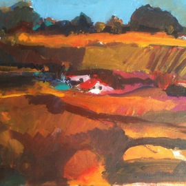 Daniel Clarke: 'Clancys Farm', 2012 Acrylic Painting, Landscape. Artist Description: