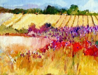 Acrylic Painting by Daniel Clarke titled: Lavender in Sonoma, 2014