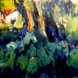 Daniel Clarke: 'Near Hampton Road', 2017 Acrylic Painting, Landscape. Artist Description: Near Hampton Road Virginia a backyard acrylic painting showing through a  green forest lovely bucolic ...