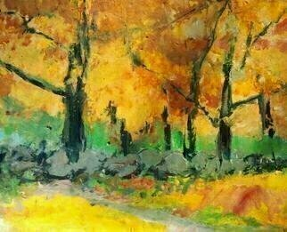 Artist: Daniel Clarke - Title: Portland Autumn - Medium: Acrylic Painting - Year: 2011