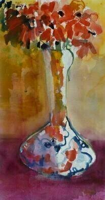 Daniel Clarke Artwork Red Lady, 2010 Watercolor, Still Life