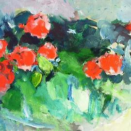 Daniel Clarke: 'Roses', 2007 Acrylic Painting, Still Life. Artist Description:  Roses is part of the Artist' s California Scenes series of paintings. ...