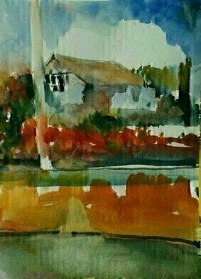Artist: Daniel Clarke - Title: San Marino Real Estate - Medium: Watercolor - Year: 2012