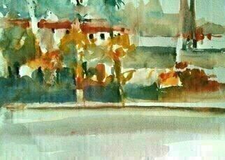 Artist: Daniel Clarke - Title: Santa Barbara Real Estate - Medium: Watercolor - Year: 2012