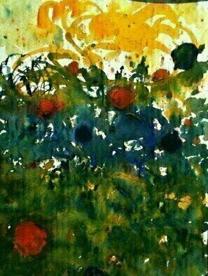 Artist: Daniel Clarke - Title: Socrates Garden - Medium: Watercolor - Year: 2012