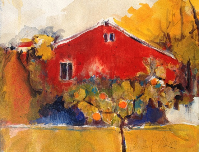 Sonoma Backyard daniel clarke artwork: sonoma backyard | original painting acrylic