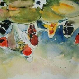 Watercolor Koi