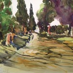appian way near rome By Daniel Clarke