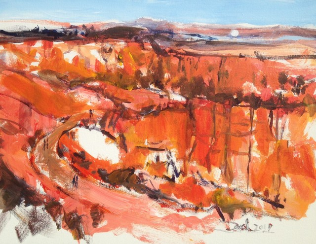 Daniel Clarke  'Bryce Canyon Vista', created in 2019, Original Woodcut.