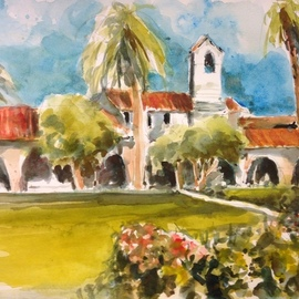 Daniel Clarke - capistrano vista no 4, Original Watercolor