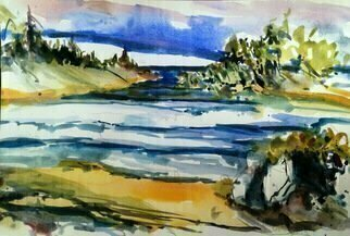 Daniel Clarke: 'coastal waters near seattle', 2019 Watercolor, Landscape. Artist Description: The often rugged coastlines of the Pacific Northwest create manyplaces decidedly aEURoeNorthwestaEUR in flavor, and visiting coastal places ispart of the experience of living here. Some say coastal areas are aEURoethelast wilderness. aEUR As aEURoeedgesaEUR between sea and land, tidal zones offerhomes to as much ...