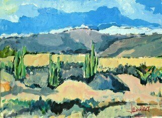 Daniel Clarke: 'high desert vista', 2019 Acrylic Painting, Landscape. Walking in the high desert, My heart was ever at ease.Whether in the noon day sun, Or in the evening breeze.My wonder never ceased.The burning sands around me, And God was everywhere.In the washes and the mountains, And in the sky so fair, I tell you ...