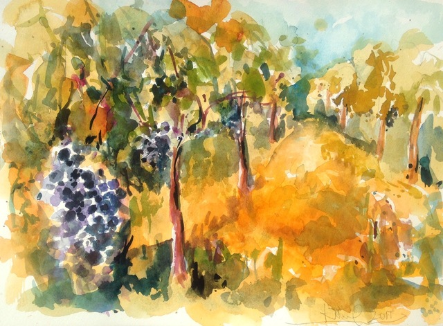 Daniel Clarke: napa vista no 26, 2017 Watercolor