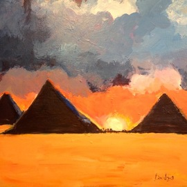pyramids at giza  By Daniel Clarke