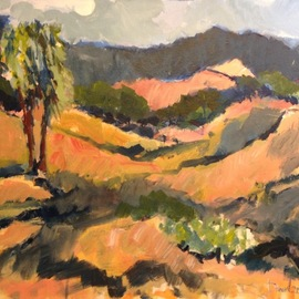 Daniel Clarke: 'santa ynez environs', 2018 Acrylic Painting, Landscape. Artist Description: Situated just two hours north of Los Angeles, four hours from the Silicon Valley, and only 30 minutes from Santa Barbara lies the Santa Ynez Valley. On arrival, prepare to be enveloped in a landscape of vineyards, horse ranches, farms and schoolhouses. Travel back in time to where ...