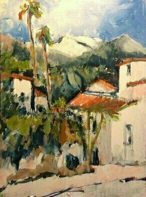 Daniel Clarke Artwork santa ynez mountain view, 2017 Acrylic Painting, Landscape