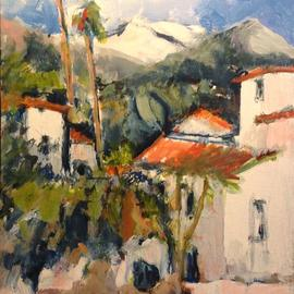 Daniel Clarke: 'santa ynez mountain view', 2017 Acrylic Painting, Landscape. Artist Description: Painting acrylic on board the Santa Ynez Mountain Vista awakens the sleepy mountain village for another sun filled California winter day...