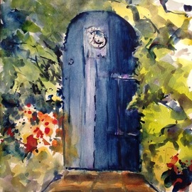 the blue door heart  By Daniel Clarke