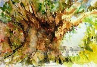 Daniel Clarke: 'tree of life disneyworld', 2018 Watercolor, Landscape. Artist Description: The Tree of Life is a 145- foot  44 m  sculpture of a baobab tree at Disney s Animal Kingdom, Walt Disney World Resort. It debuted when the attraction opened on April 22, 1998. Inspired by the mythical tree of the same name, the Tree of Life features ...