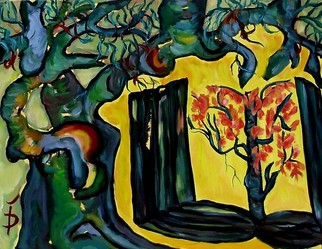 Artist: Daniela Isache - Title: Book in Blossom - Medium: Oil Painting - Year: 2014