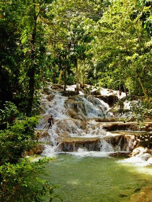 Artist: Daniel B. Mcneill - Title: Dunn River Falls Kingston Jamaica - Medium: Color Photograph - Year: 2011
