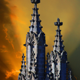 Daniel B. Mcneill Artwork The National Cathedral, 2011 Color Photograph, Music