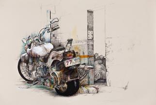 Daniel Brunkert Artwork Neverending Journey, 2012 Mixed Media, Surrealism