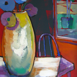 Daniel Nie: 'Red Room', 2012 Oil Painting, Still Life. Artist Description:  Hand painted original on canvas. ...