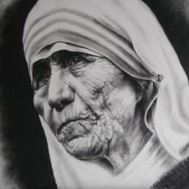 Daniel Patterson Artwork Mother Teresa, 2016 Other Drawing, Religious