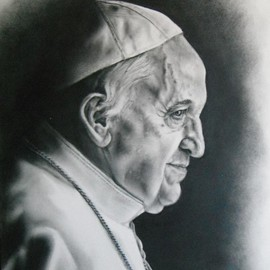Daniel Patterson Artwork Pope Francis, 2016 Other Drawing, Religious