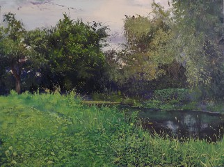 Artist: Danil Shurykin - Title: Olhovka river - Medium: Oil Painting - Year: 2014