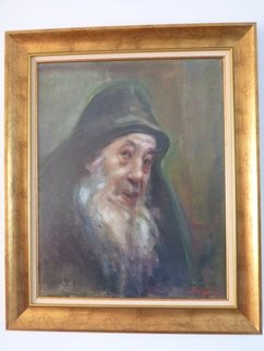 Danila Incze: 'portrait of a monk', 2016 Oil Painting, Portrait. Artist Description: Monk from the Mount Athos, Greece.The theme of the Church's clerics and of the Mount Athos  Greece  has been explored by many of the great artists such as El Greco, Velasquez, Titian, and Rembrandt.The Monk from the Mount Athos throws a sorrowing glance to the ...