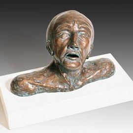 Dan Woodard Artwork Anguished Man with Broken Nose, 2010 Ceramic Sculpture, Figurative