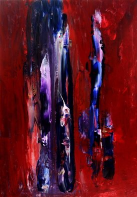 Dariusz Bernat: '791', 2017 Acrylic Painting, Abstract. Artist Description: pink, red, blue, violet, white, abstract expressionism, dark...