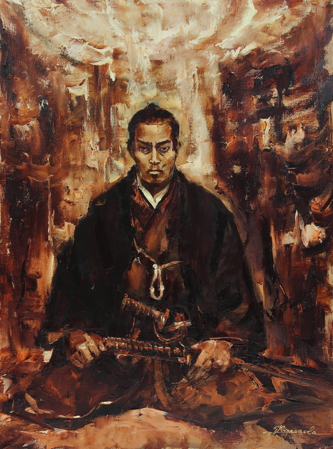 Dariusz Bernat  'The Last Samurai', created in 2017, Original Painting Acrylic.