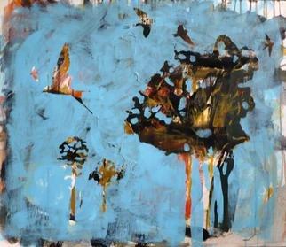 Dariya Afanaseva Artwork Swallows flying low before the rain, 2011 Swallows flying low before the rain, Abstract Landscape