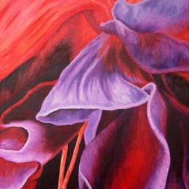 Darla Brock: 'Folds of Fuschia', 2008 Oil Painting, Floral.