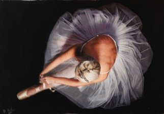 Darren Baker: 'ballet swan', 2017 Pencil Drawing, Figurative. Artist Description: figurative photorealism drawing pencil pastel classical ballet contemporary...