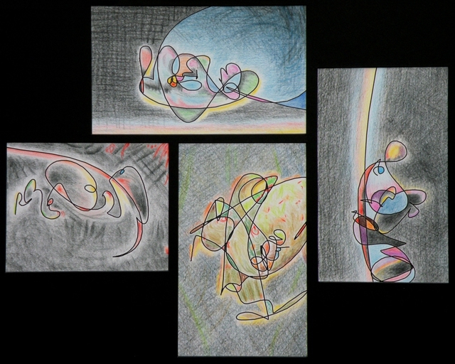 Dave Martsolf  'Four Lives', created in 2012, Original Drawing Pastel.