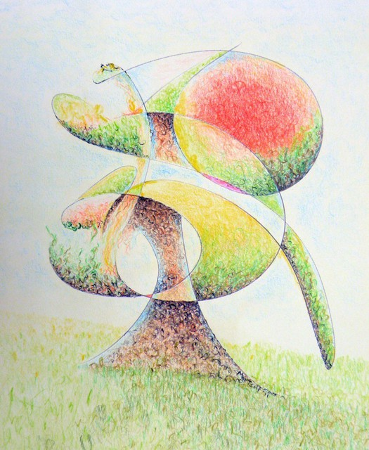 Dave Martsolf  'Fruit Tree', created in 2011, Original Drawing Pastel.