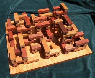 Wood Sculpture by Dave Martsolf titled: Knossos, created in 2013