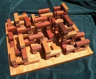 Wood Sculpture by Dave Martsolf titled: Knossos, 2013