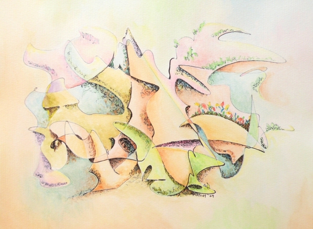 Dave Martsolf  'Masque', created in 2009, Original Drawing Pastel.