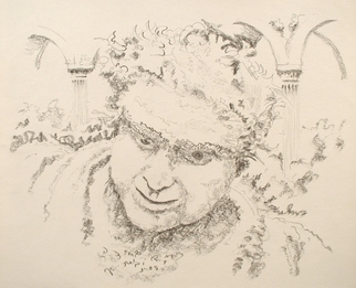 Pencil Drawing by Dave Martsolf titled: Nero, 1980