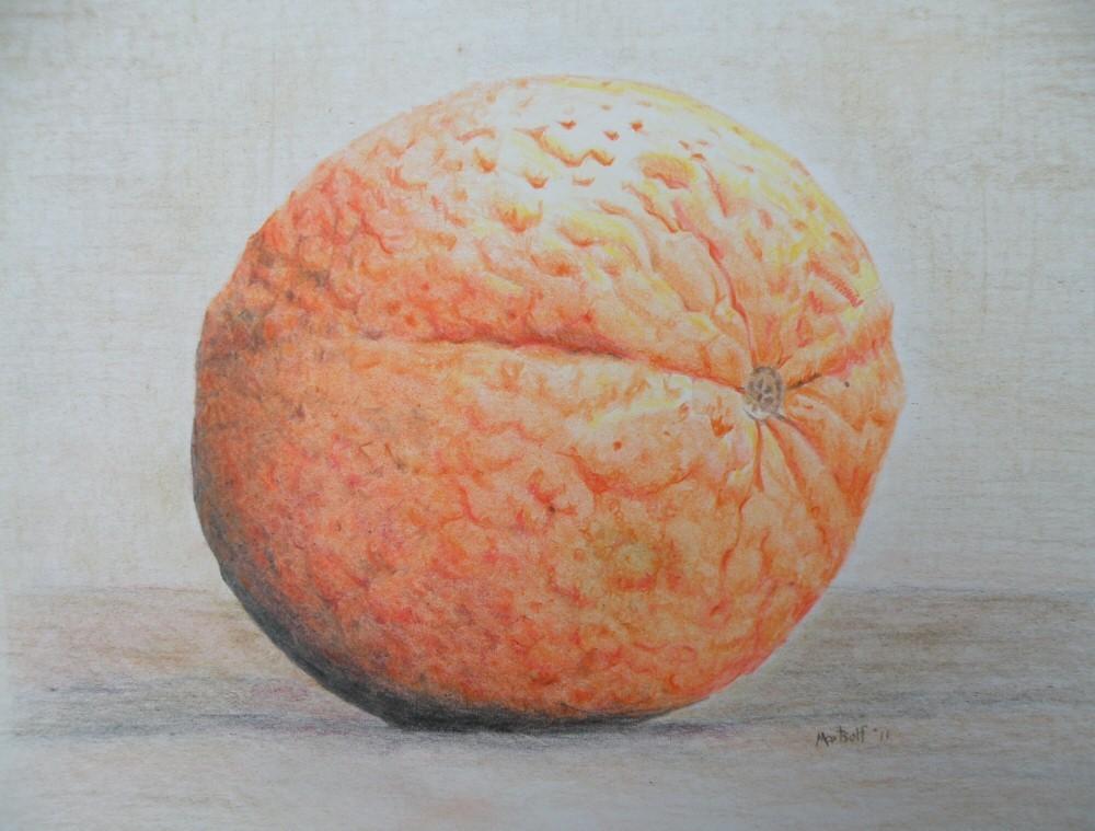 dave martsolf orange drawing pencil artwork still