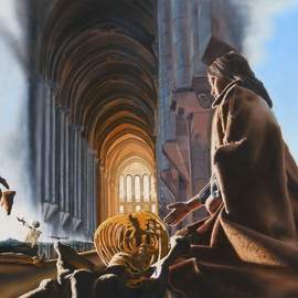 Dave Martsolf Artwork Surreal Cathedral, 1979 Oil Painting, Surrealism