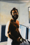 Artist: Dave Martsolf, title: Surreal Shave, 1980, Painting Oil