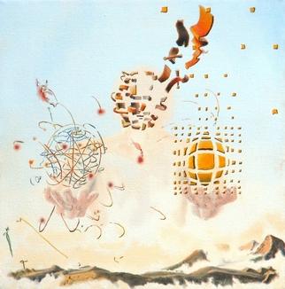 Artist: Dave Martsolf - Title: The Arguments of Heisenberg and Einstein - Medium: Oil Painting - Year: 1979